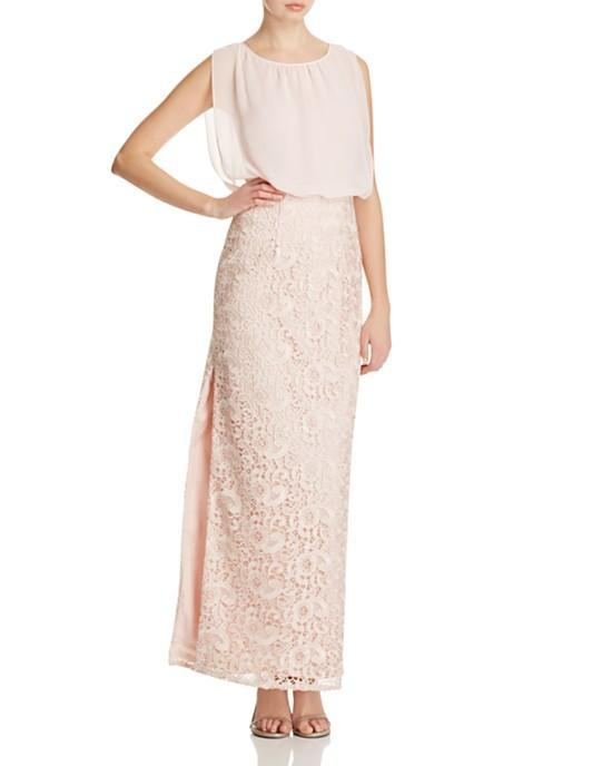 Aidan Mattox - Sleeveless Lace Long Dress 251704760 in Pink