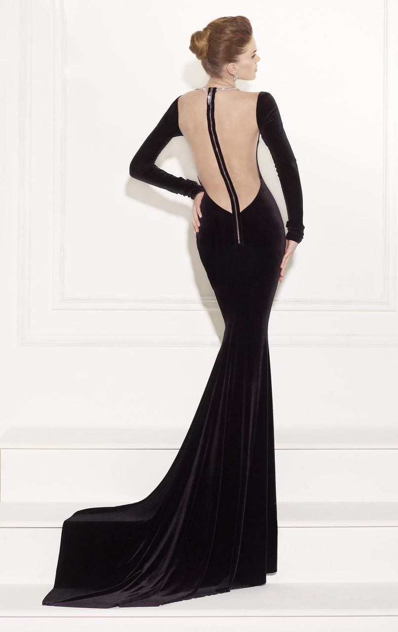Tarik Ediz - Jeweled Mermaid Gown 92518 in Black