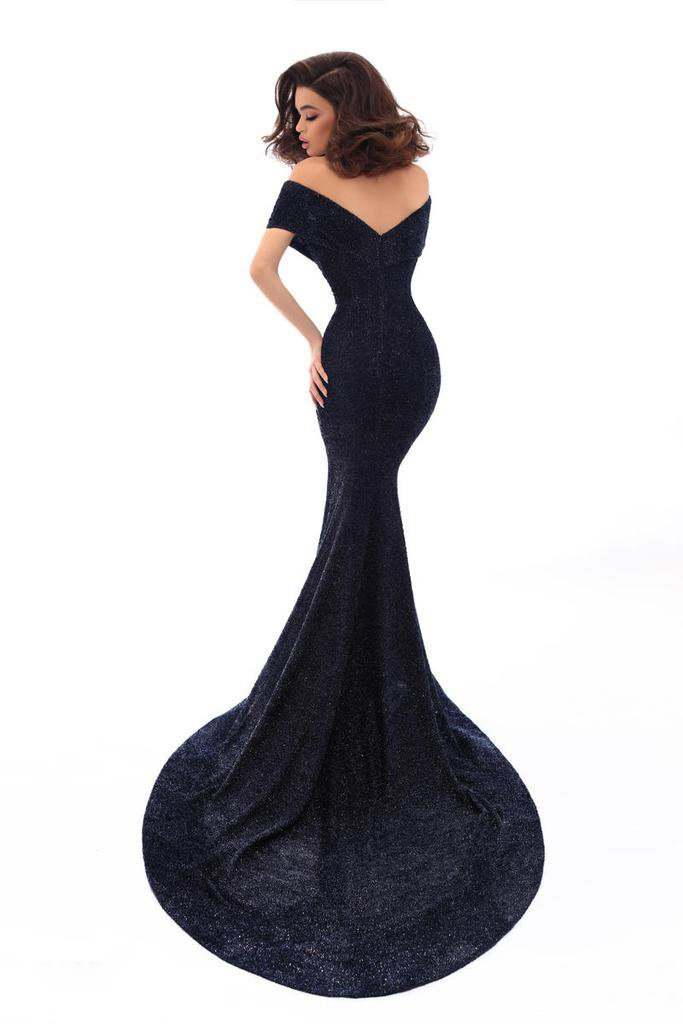 Tarik Ediz - 93636SC Off Shoulder Mermaid Formal Gown