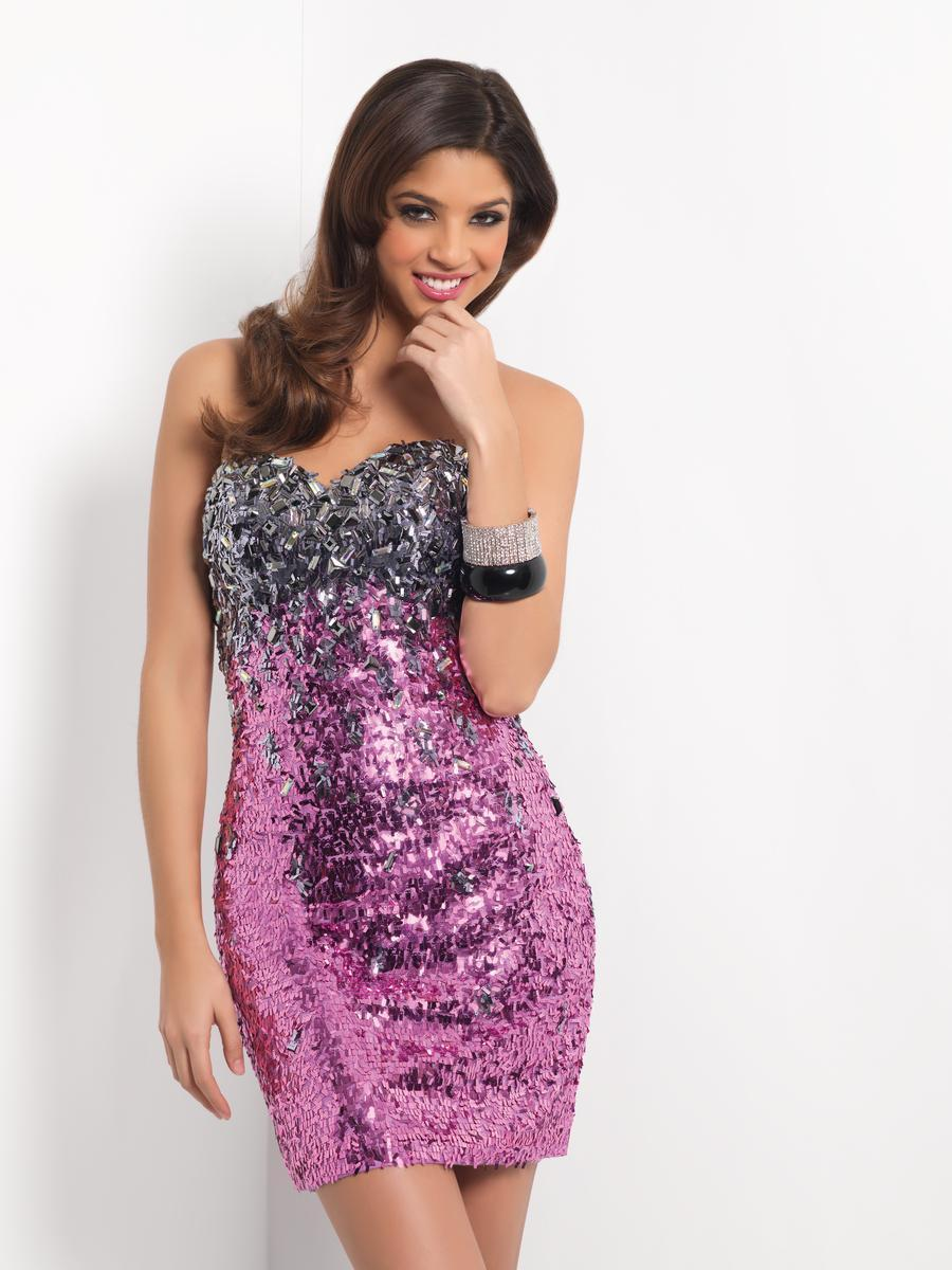 Blush - Sparkling Strapless Sheath Cocktail Dress 9441 Special Occasion Dress