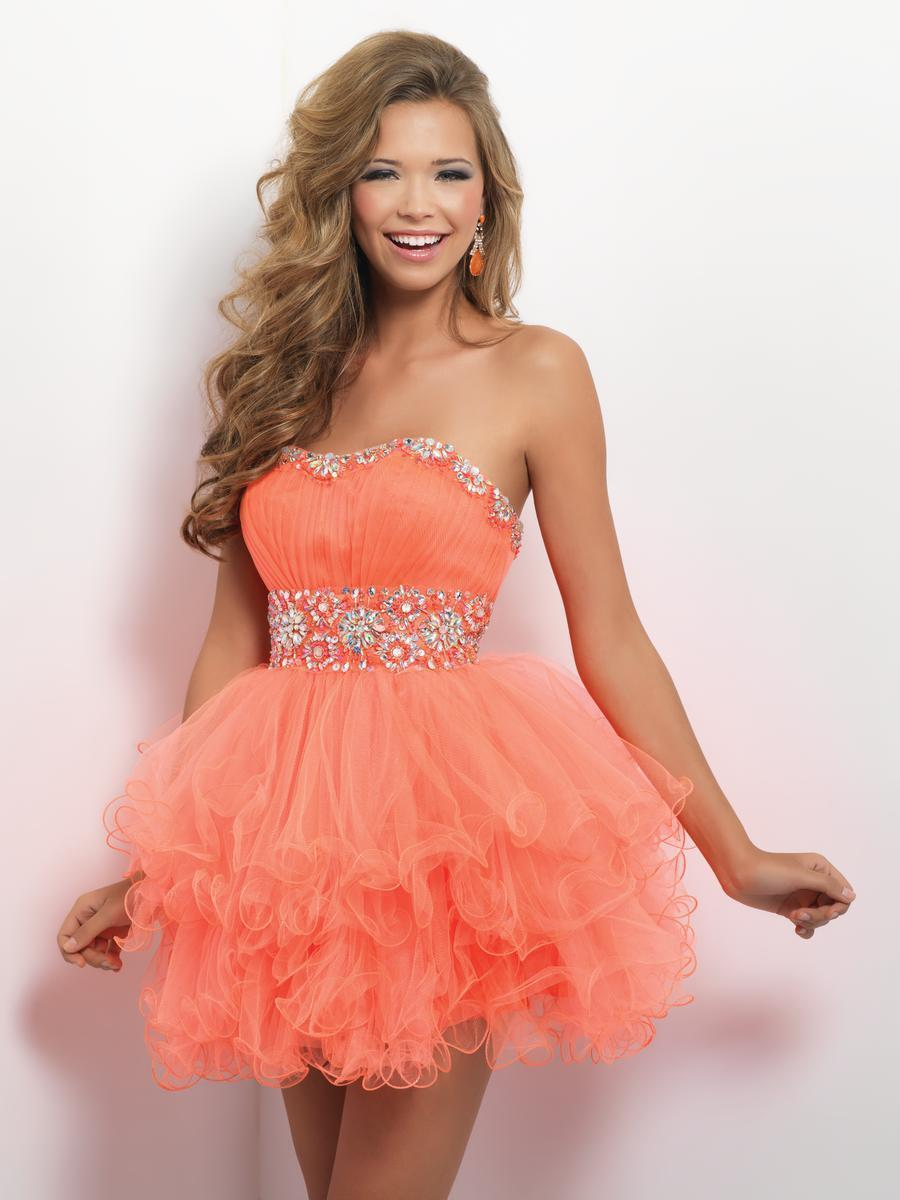 Blush by Alexia Designs - 9664 Sweetheart Ruffled Tulle Cocktail Dress Special Occasion Dress