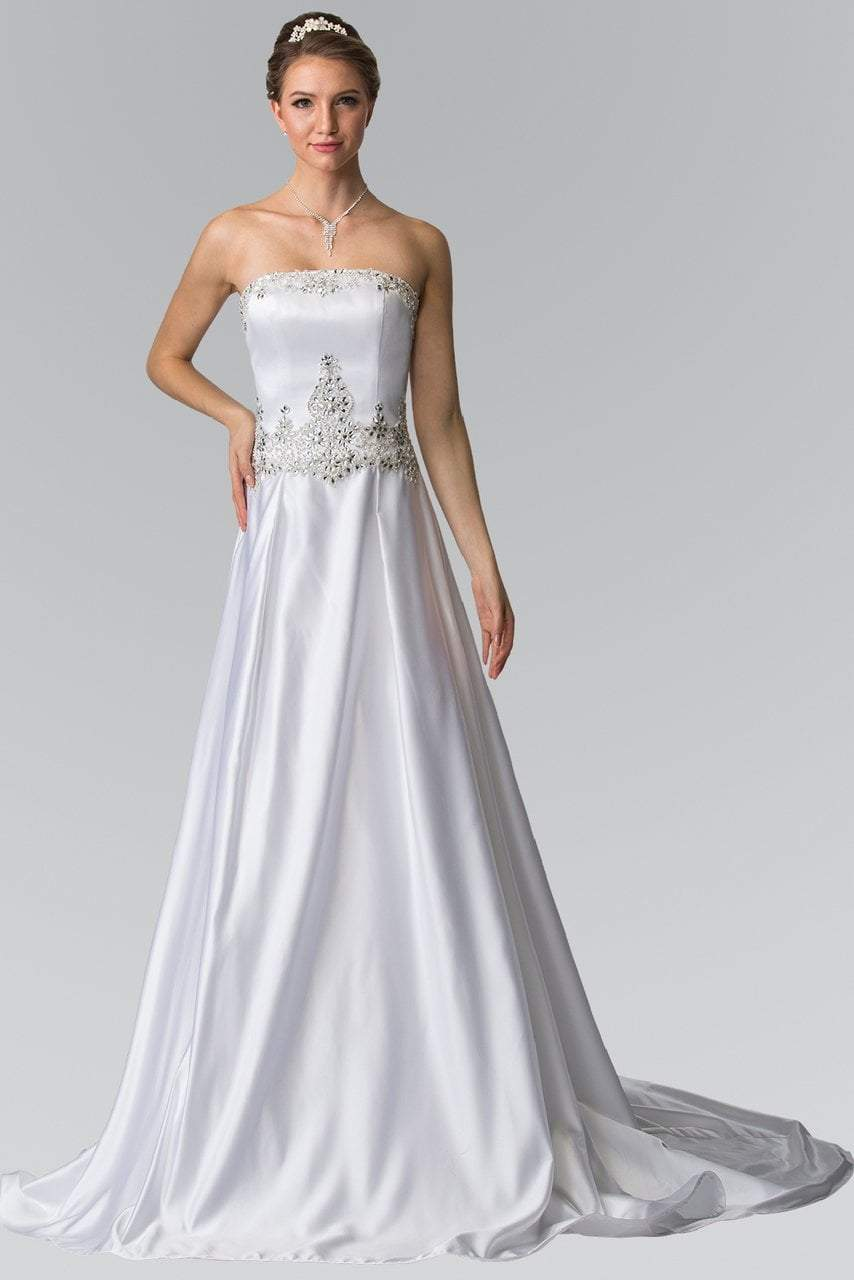 Elizabeth K Bridal - Straight Across Embellished Bridal Gown GL2201SC