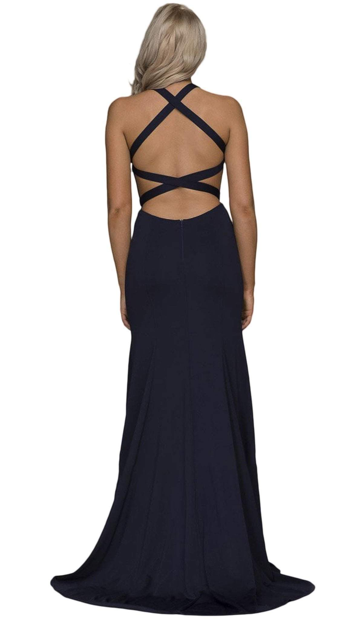 Nox Anabel - Plunging Halter Fitted Dress C023SC