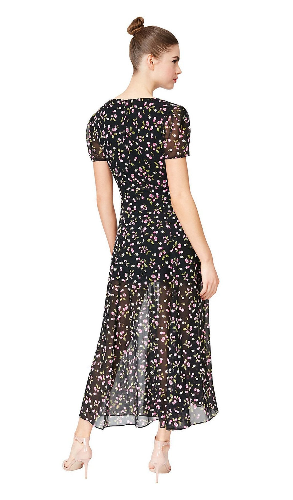 Betsey Johnson - FM03K10 Multi-colored Print A-line Dress In Black and Multi-Color