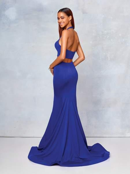 Clarisse - 3773 Two-Piece Sweetheart Bodice Mermaid Gown In Blue