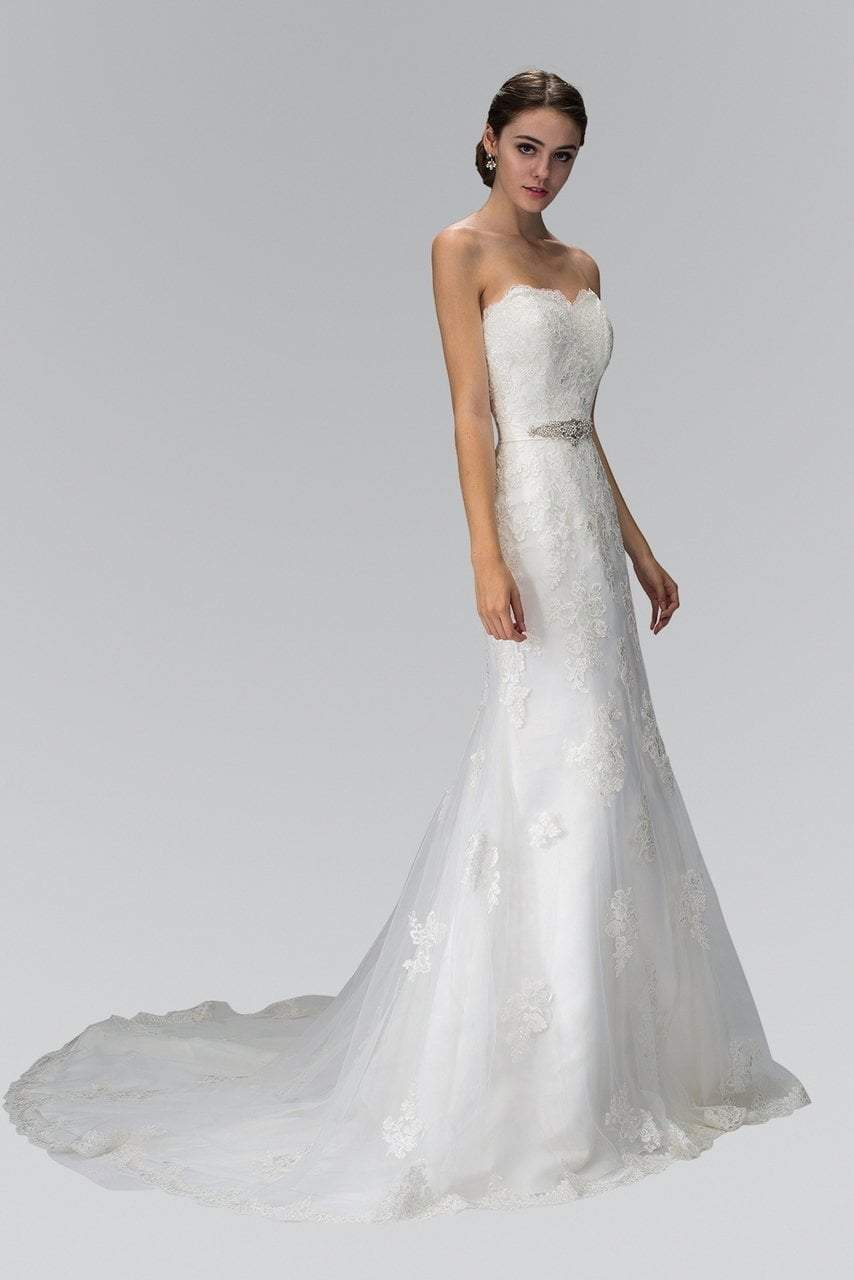 Elizabeth K Bridal - Strapless Sheath Bridal Dress GL1354SC