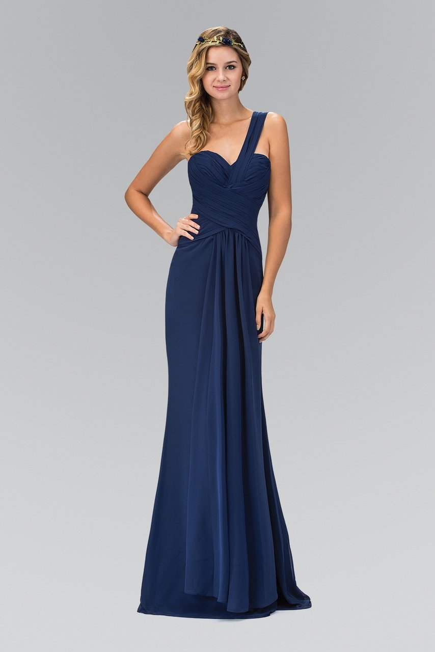 Elizabeth K - Ruched One Shoulder Sweetheart A-Line Gown GL1390SC