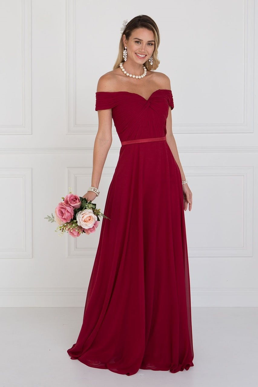 Elizabeth K - Chiffon Ruched Sweetheart A-Line Evening Dress GL1523SC