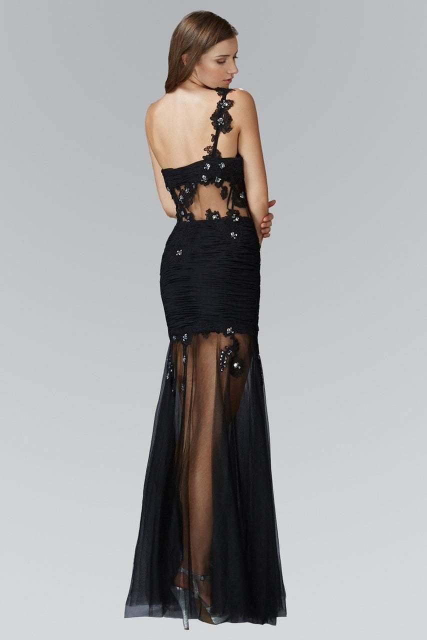 Elizabeth K - Sheer Waist Lace Tulle Evening Dress GL2012SC