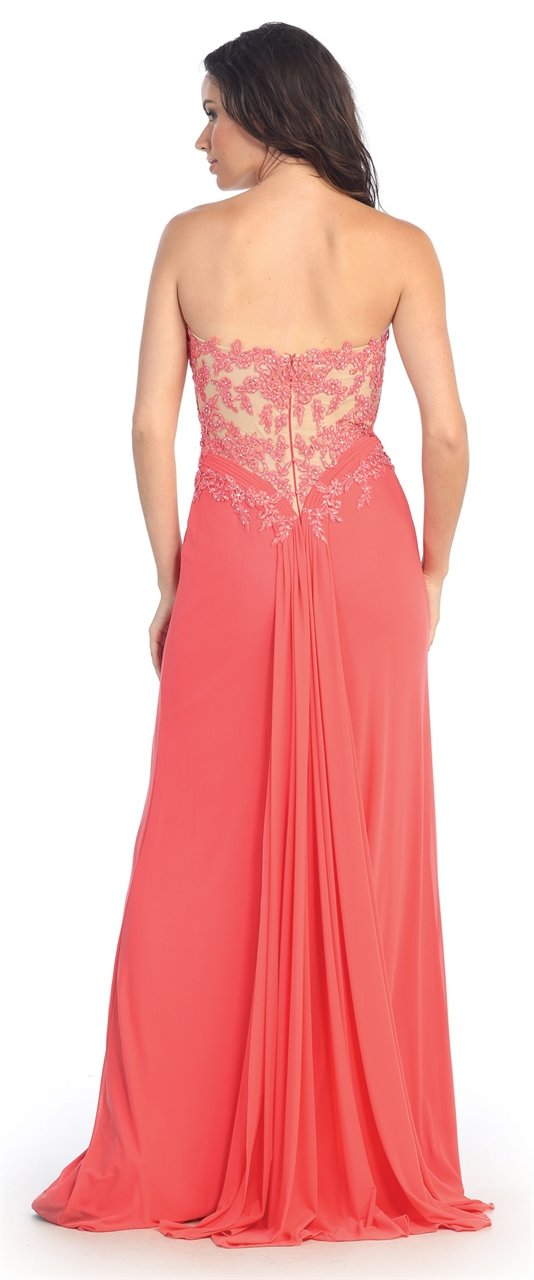 Elizabeth K - Sweetheart Soft Mesh Evening Dress GL2016SC