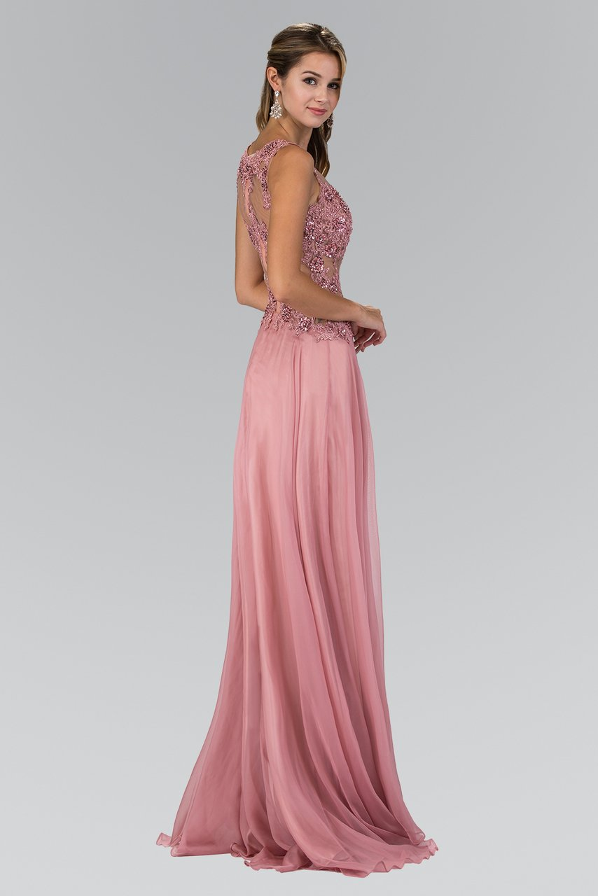 Elizabeth K - Beaded Lace Chiffon Evening Dress GL2065SC