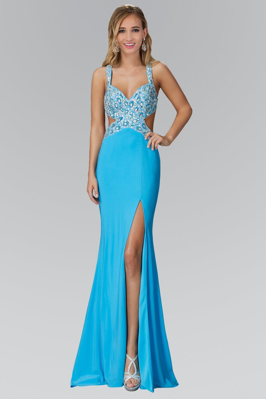 Elizabeth K - Embroidered Sweetheart Sheath Gown GL2144SC