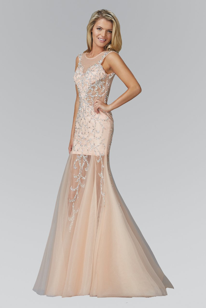 Elizabeth K - Beaded Sheer Bodice Evening Dress GL2153SC