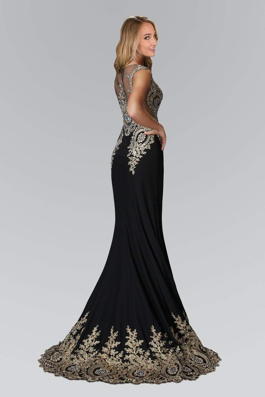 Elizabeth K - Metallic Lace Embellished Mermaid Gown GL2166SC