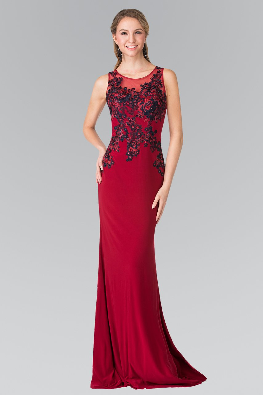 Elizabeth K - Beaded Embroidered Jersey Evening Dress GL2238SC