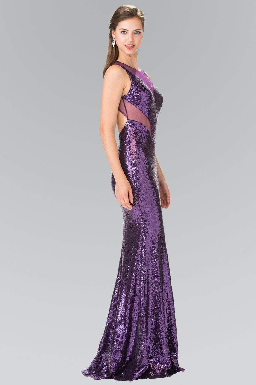 Elizabeth K - Illusion Cutout Allover Sequin Evening Gown GL2292SC