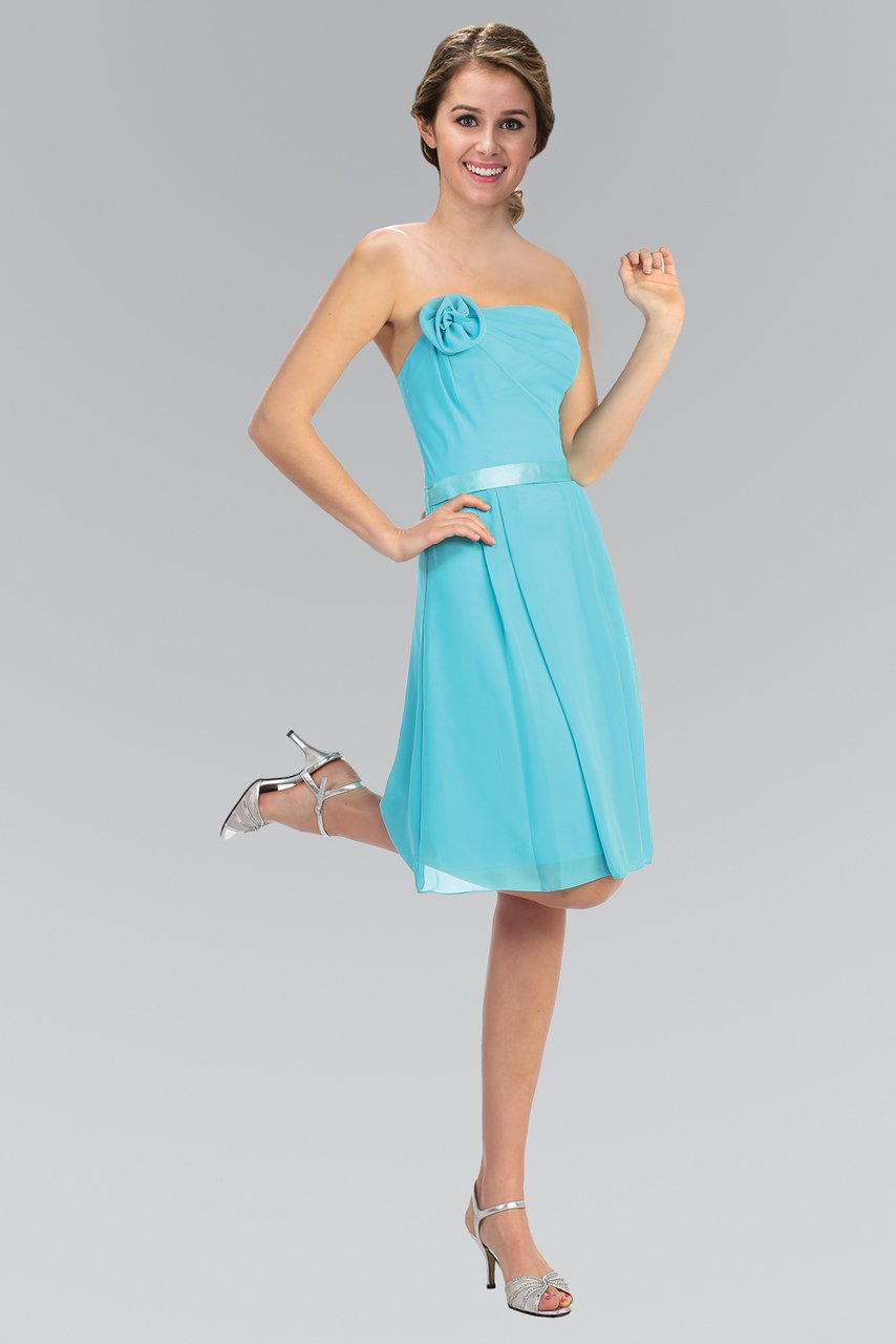 Elizabeth K - Strapless Chiffon Short A-Line Dress GS1080SC