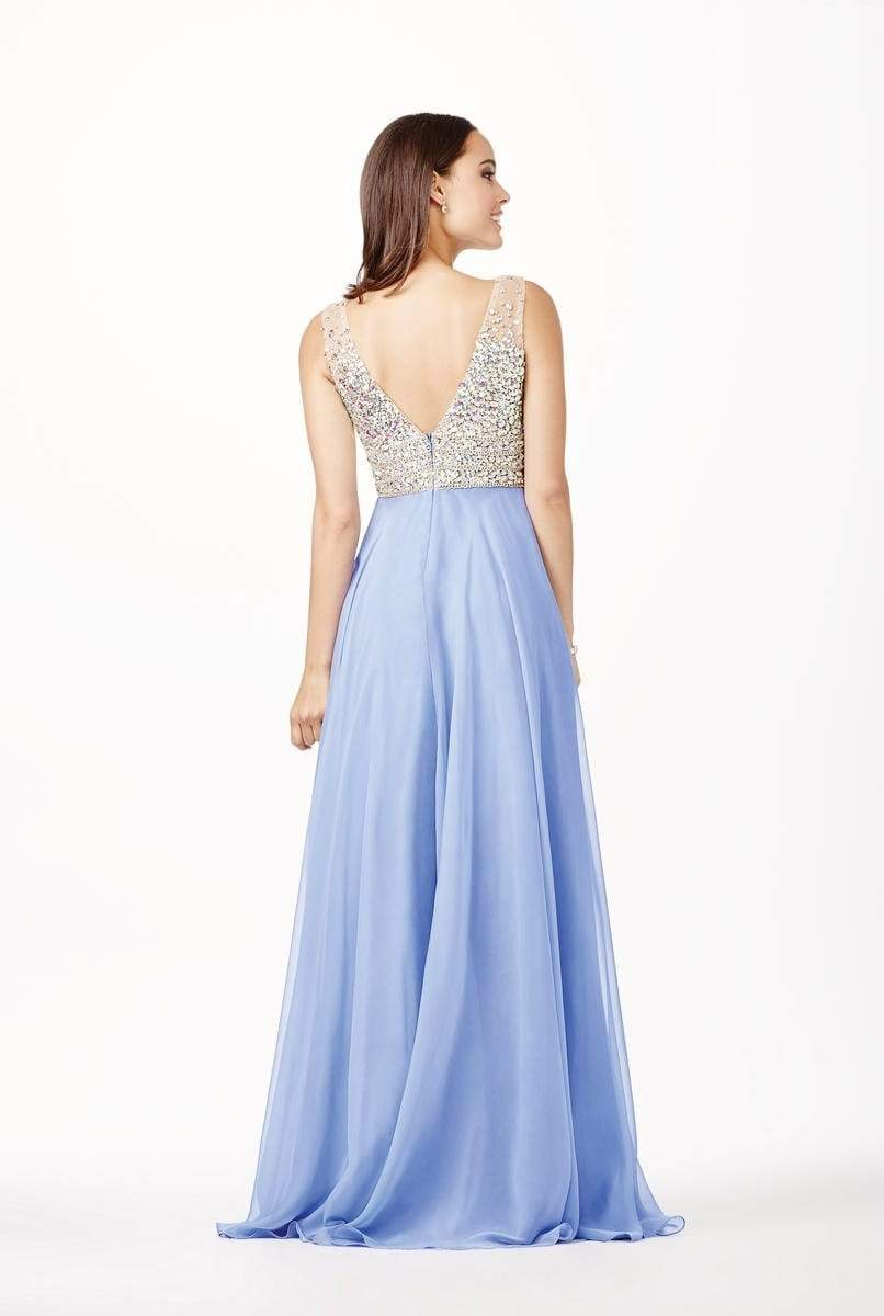 Jovani - JVN20437SC Fully Embellished Sleeveless Bodice A-Line Gown