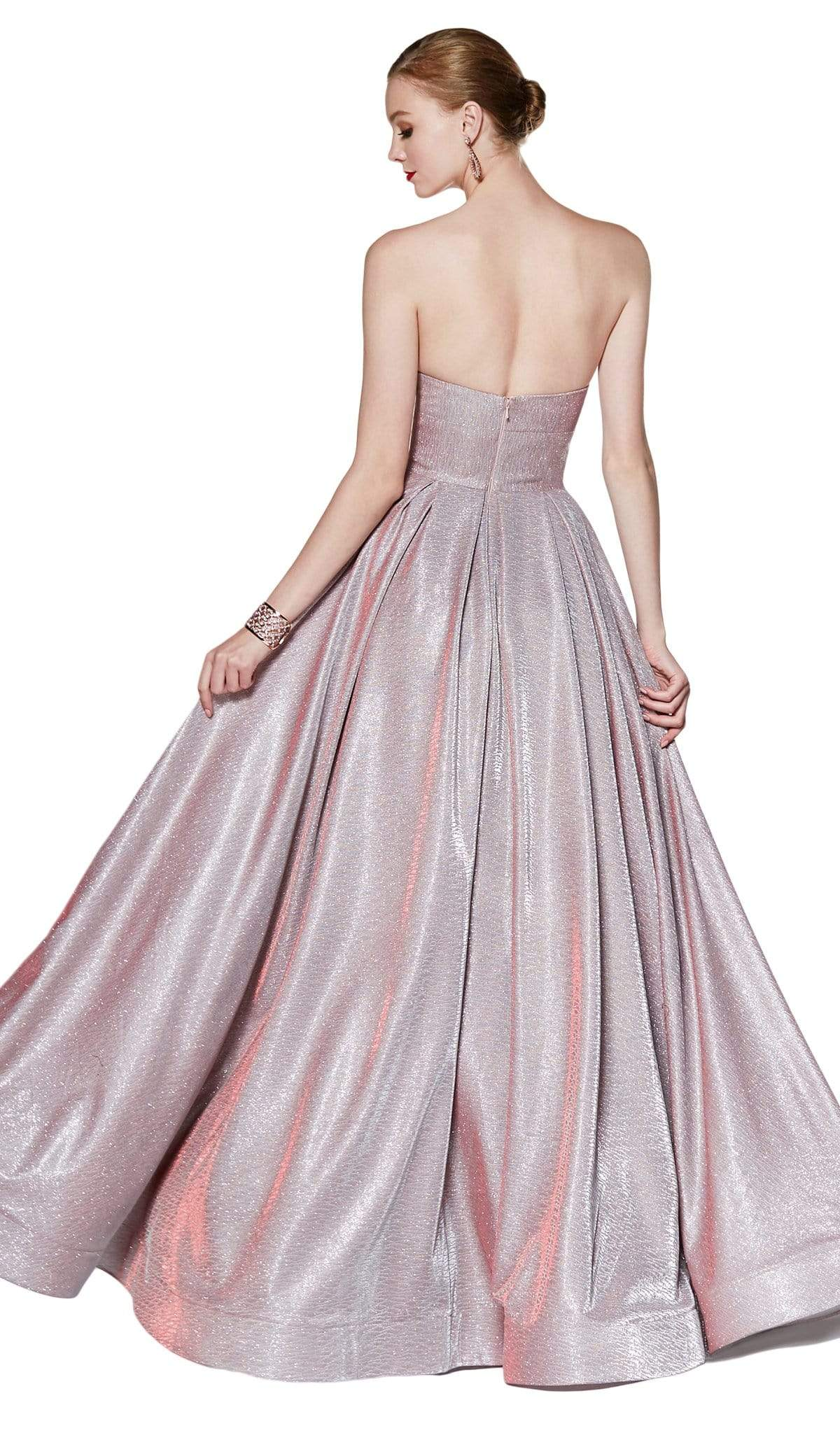 Cinderella Divine - CJ522 Glitter Sweetheart Ballgown With Slit Special Occasion Dress