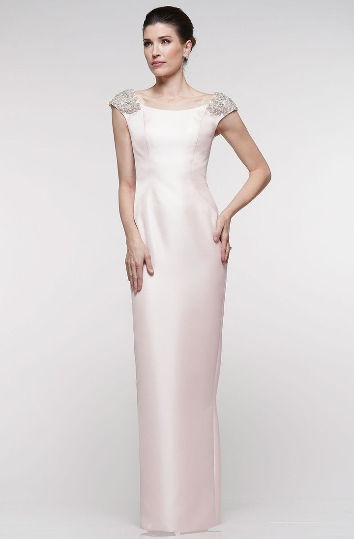 Marsoni By Colors - MV1004SC Satin Bateau Column Dress