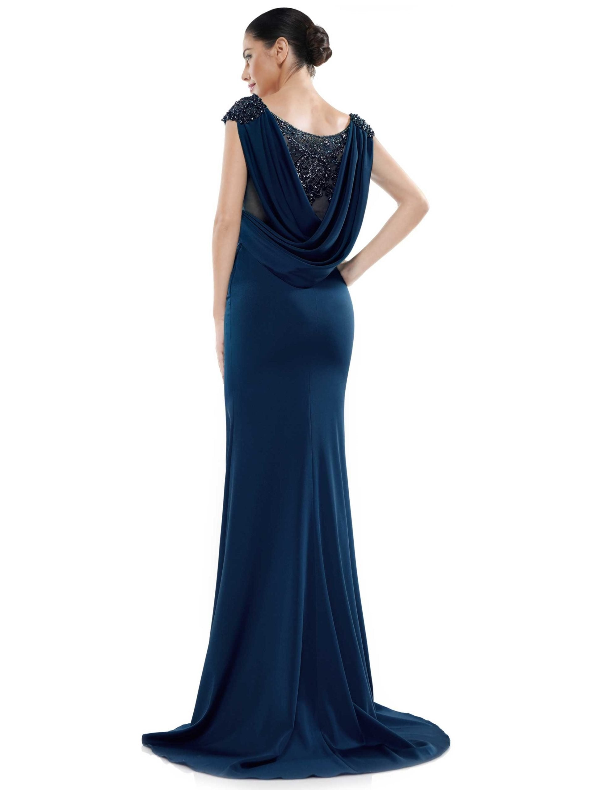 Marsoni by Colors - MV1023SC Embellished Cowl Back Evening Gown