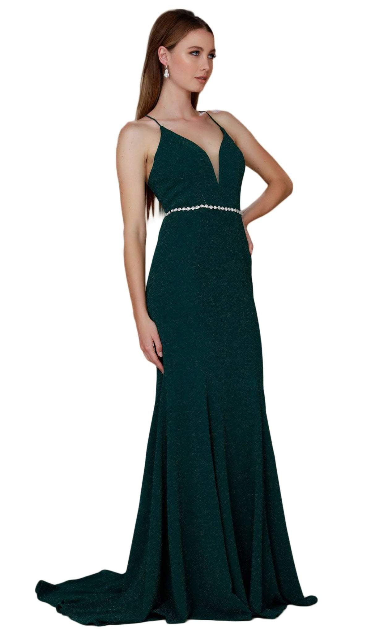 Nox Anabel - Plunging V-Neck Gown N160SC
