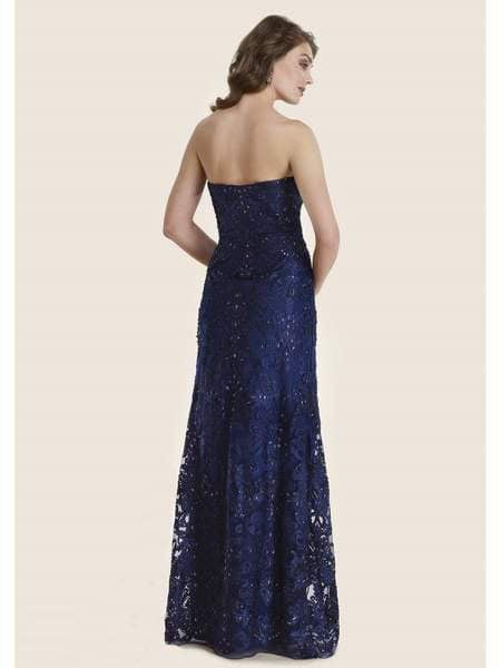 Rina di Montella - RD2624-1 Lace Embroidered Sweetheart A-line Gown Special Occasion Dress 18 / Navy
