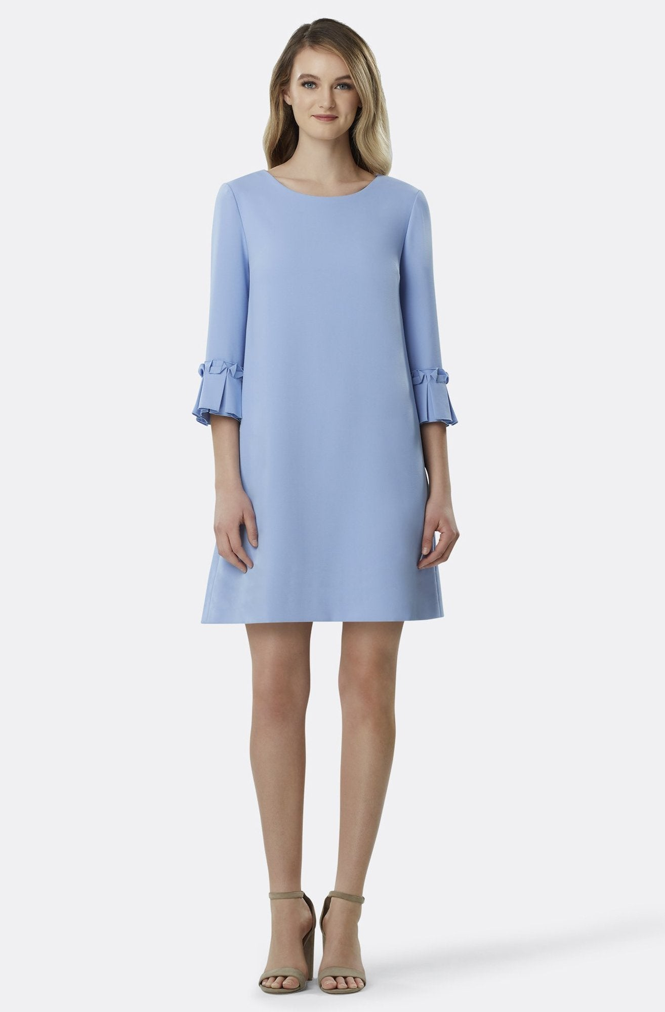 Tahari Asl - TLMU9WD682 Origami Detailed Scoop A-line Dress In Blue
