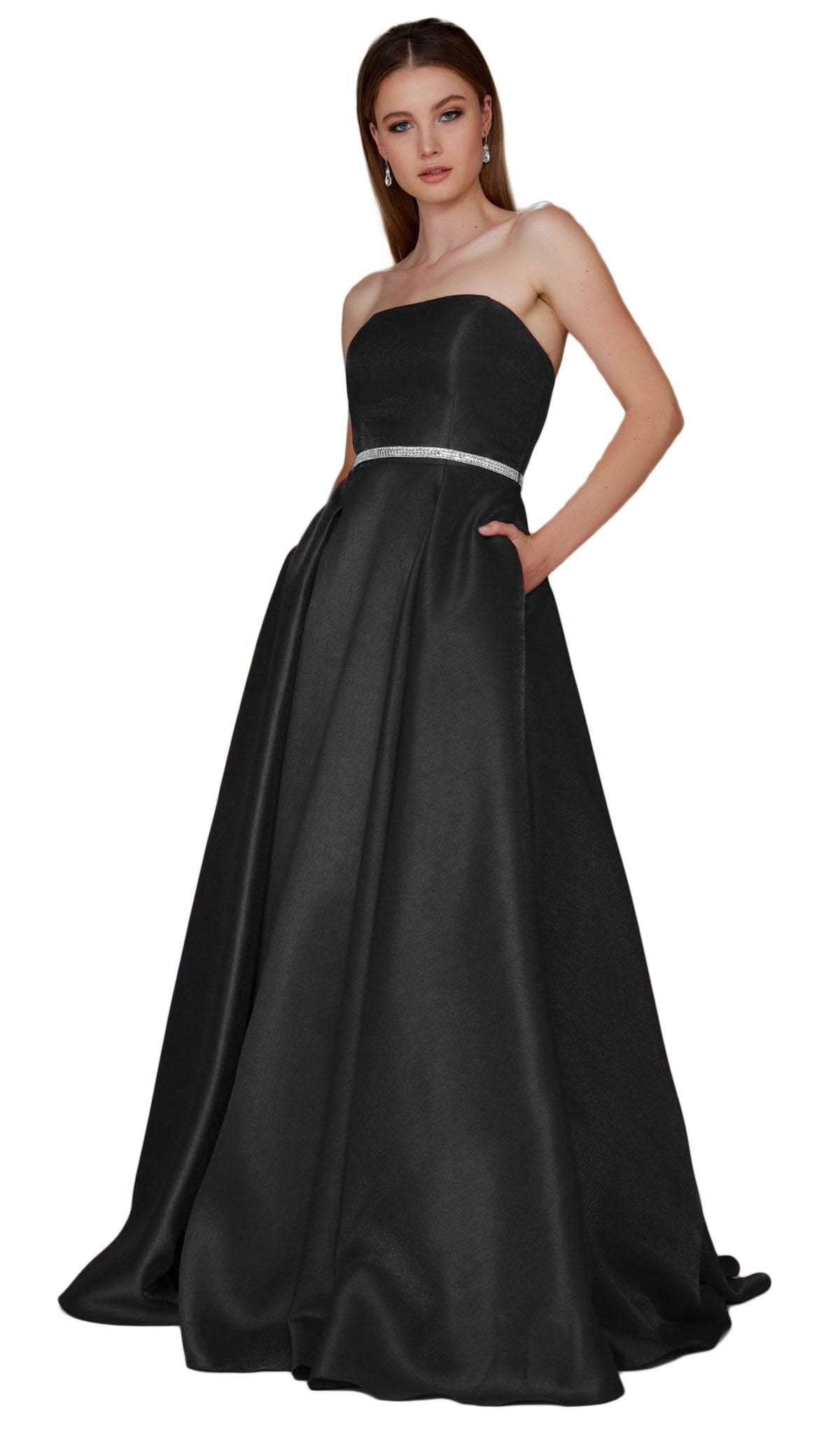 Nox Anabel - Strapless A-Line Evening Gown Y154SC