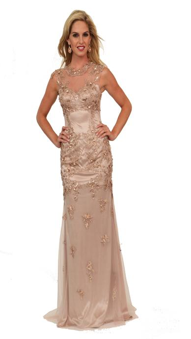 Atria Clothing - AC667542 Gown in Dusty Rose