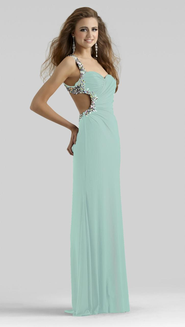 Clarisse - 2364 Bejeweled Sweetheart Dress in Green