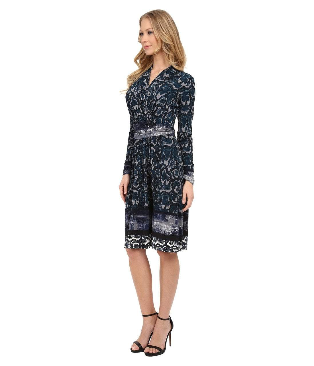 Adrianna Papell - Printed V-Neck Dress 15246570 in Print