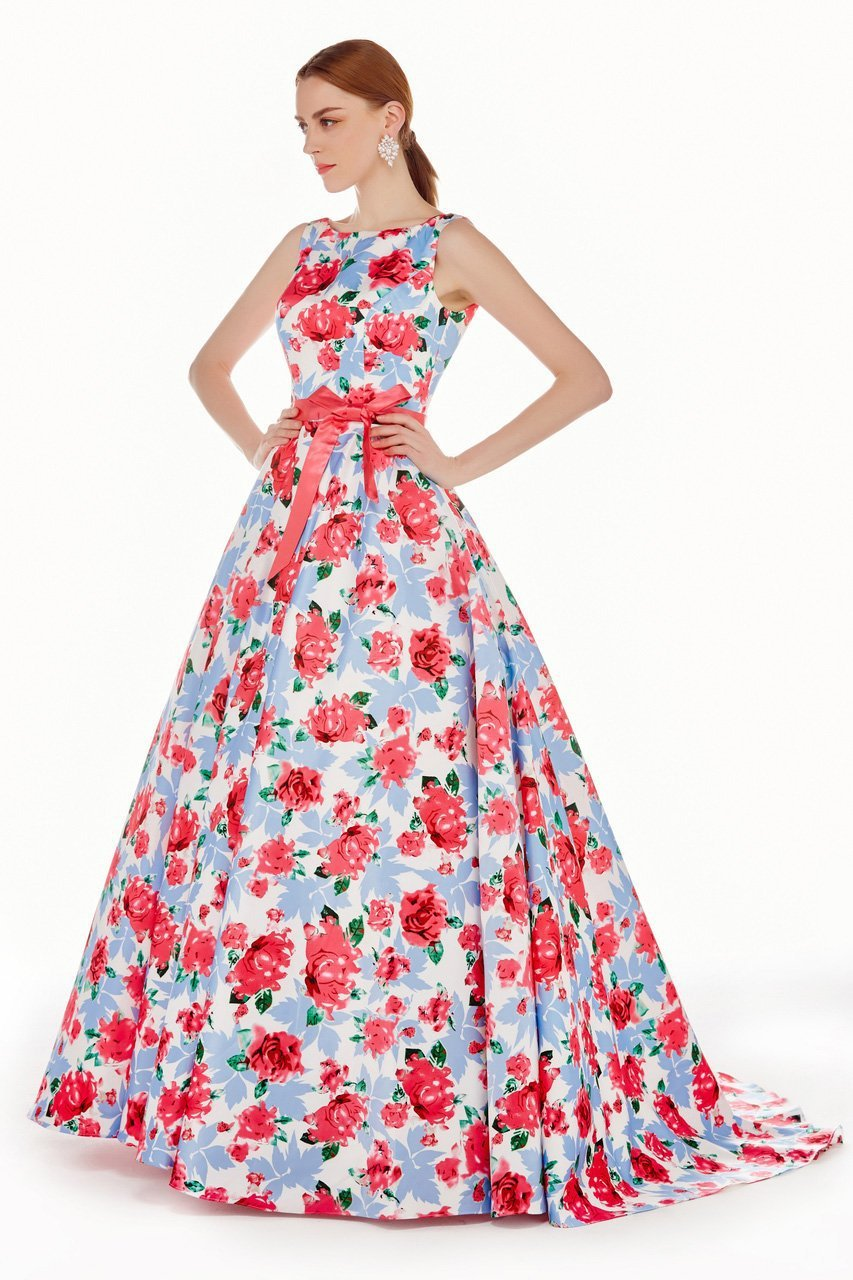 Angela and Alison - 62046 Dress, Blue, Floral