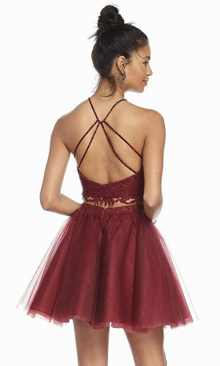 Alyce Paris - 3824 Two Piece Embellished Tulle A-line Cocktail Dress Special Occasion Dress