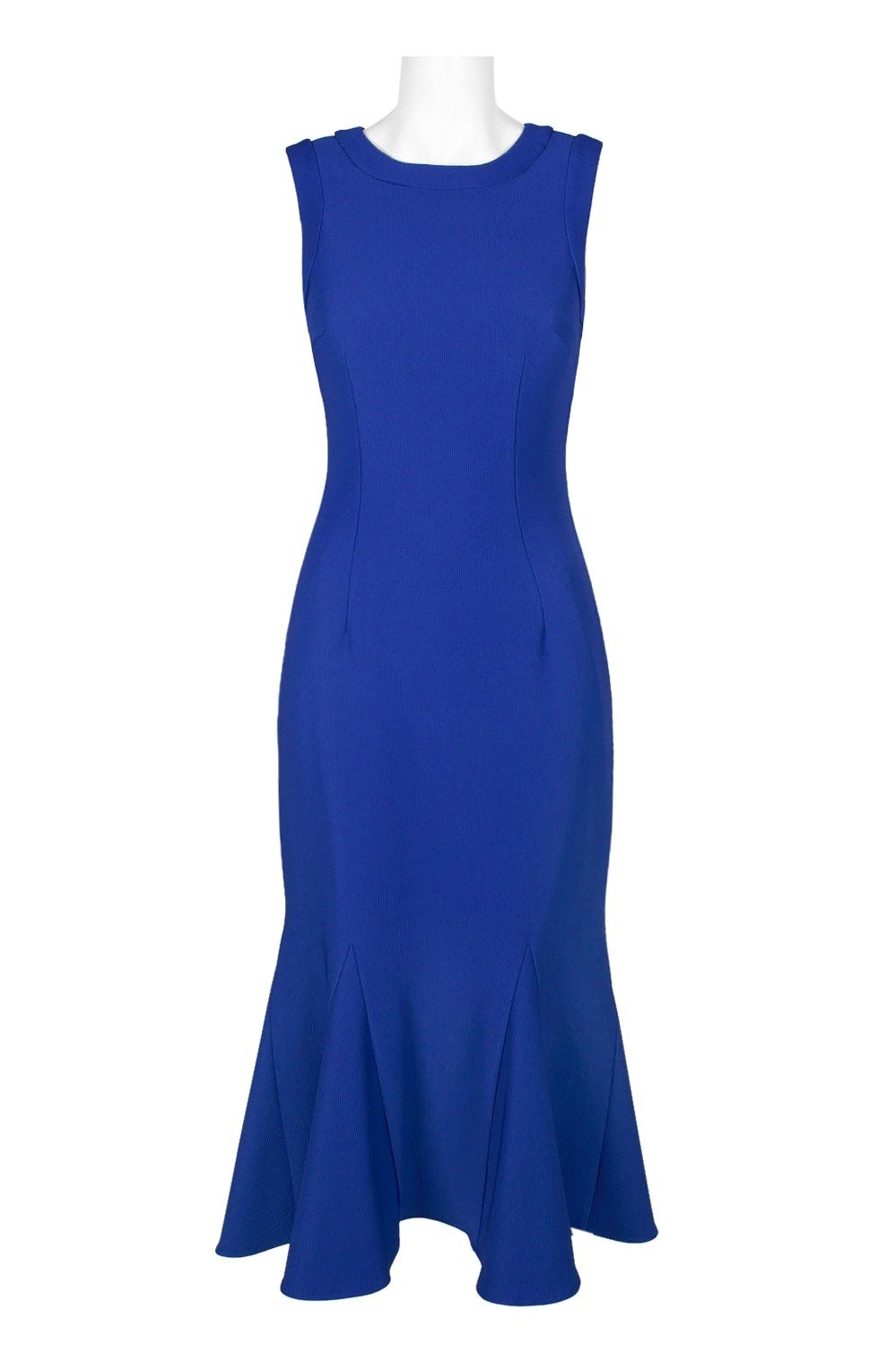 Adrianna Papell - AP1D102729 Sleeveless Jewel Neck Trumpet Dress In Blue