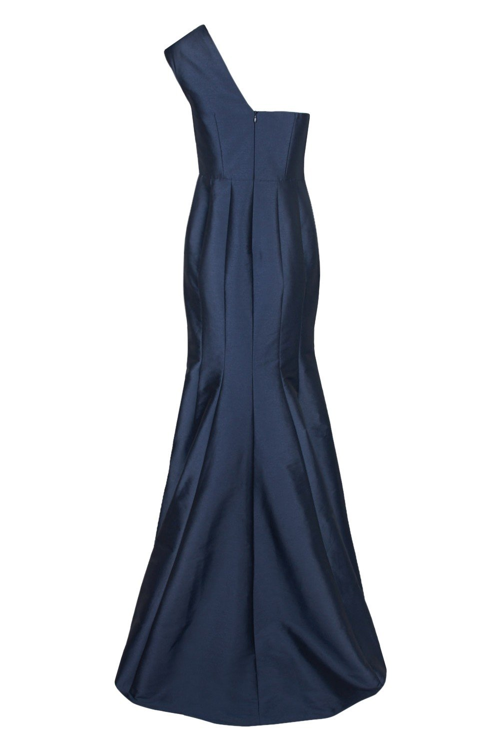 Adrianna Papell - AP1E204211 One Shoulder Taffeta Trumpet Gown In Blue