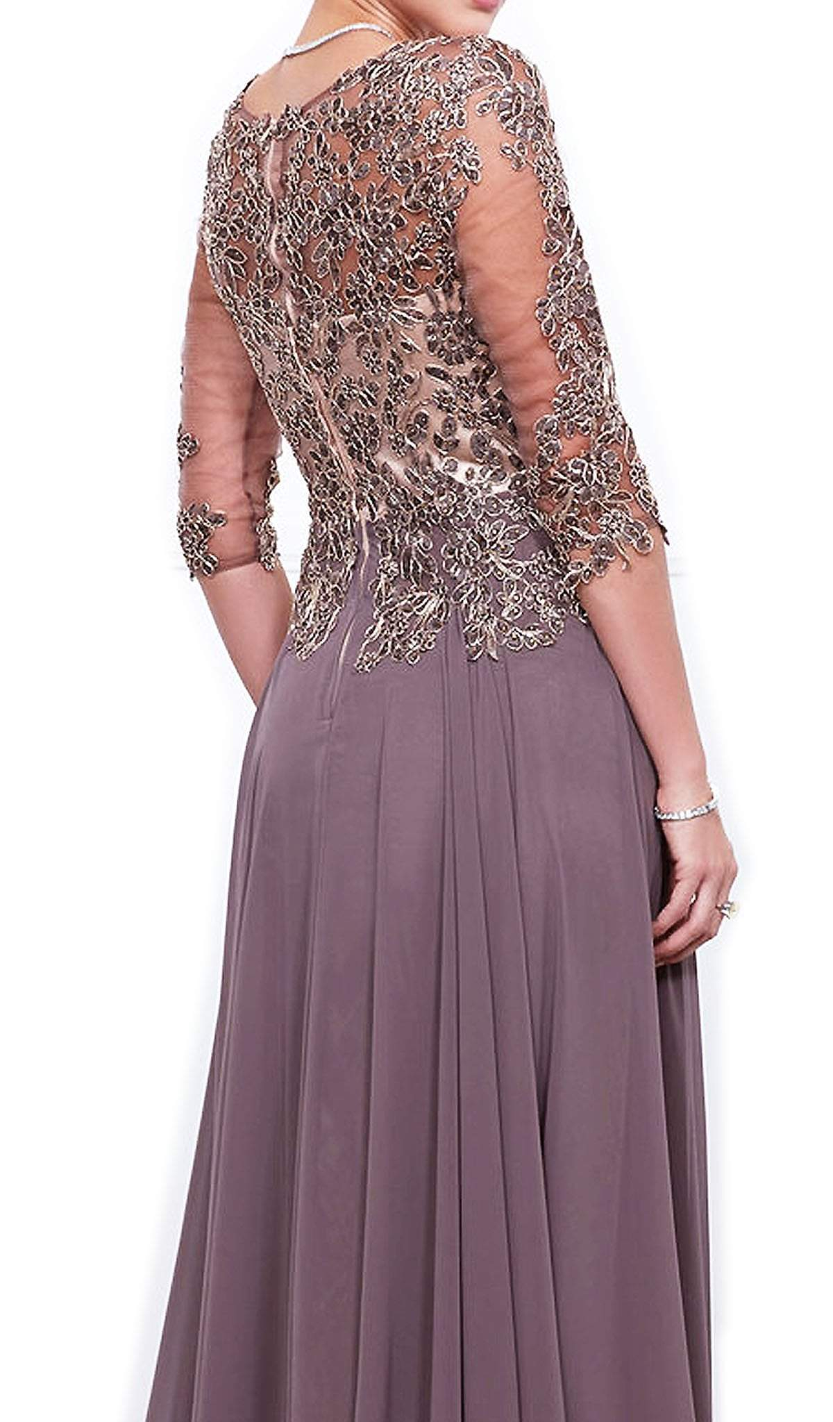 Nox Anabel - Embroidered Long A-Line Dress 5144SC