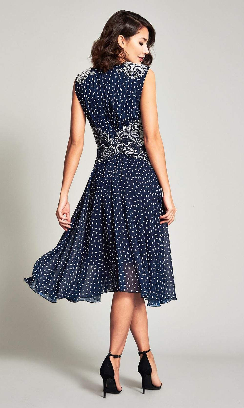 Tadashi Shoji - Maya Printed Georgette Dress Cocktail Dresses