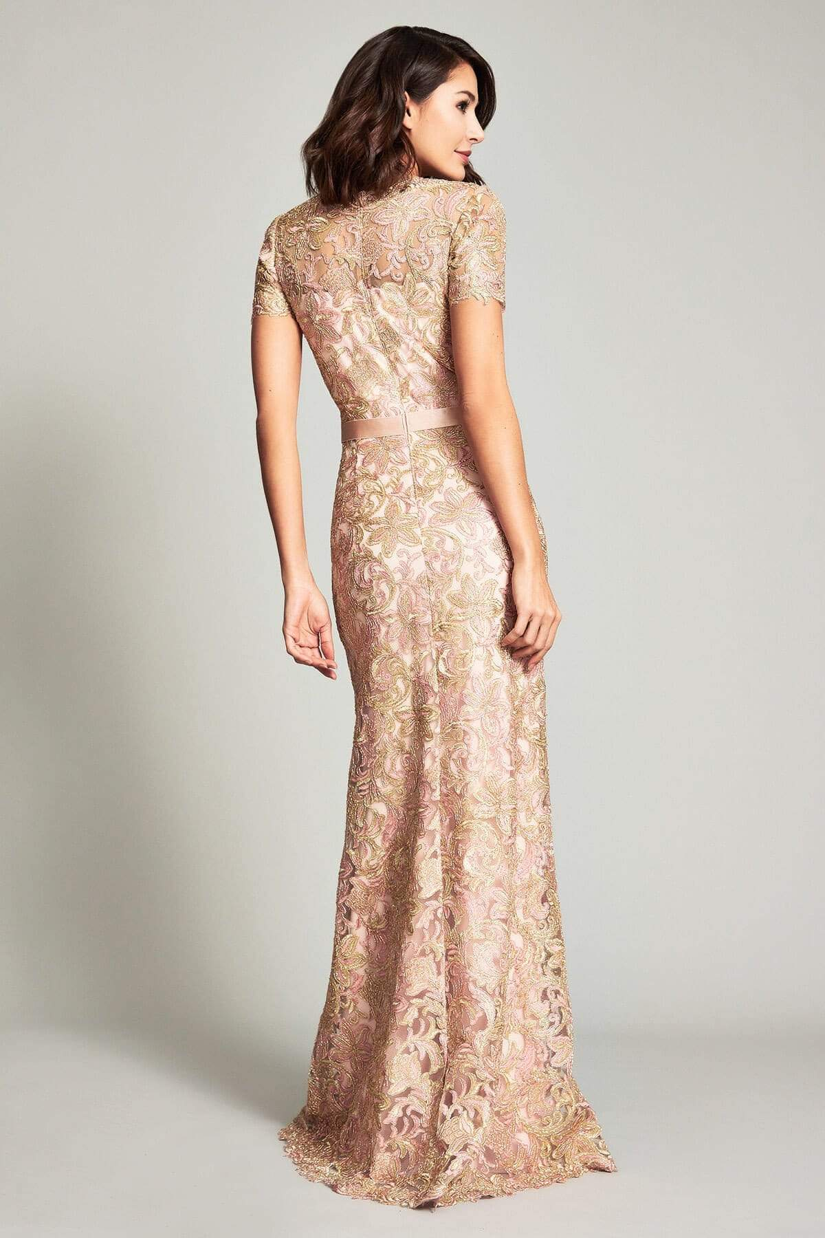 Tadashi Shoji - Caresse Semi-Fitted Gown Evening Dresses
