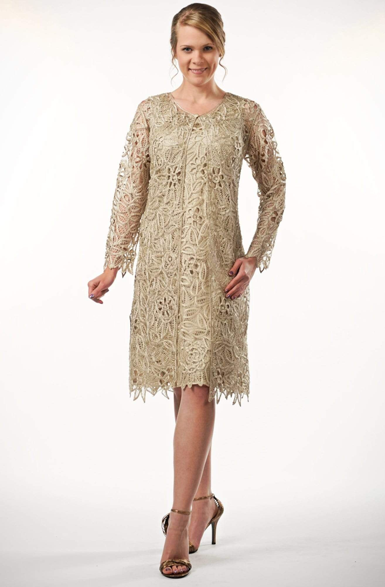 Soulmates - C88084 Beaded Short Duster Dress Set Mother of the Bride Dresses