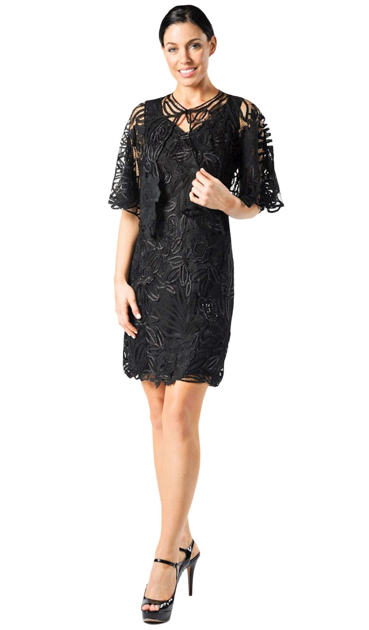 Soulmates - D1107SC Embroidered Semi-Formal Short Dress