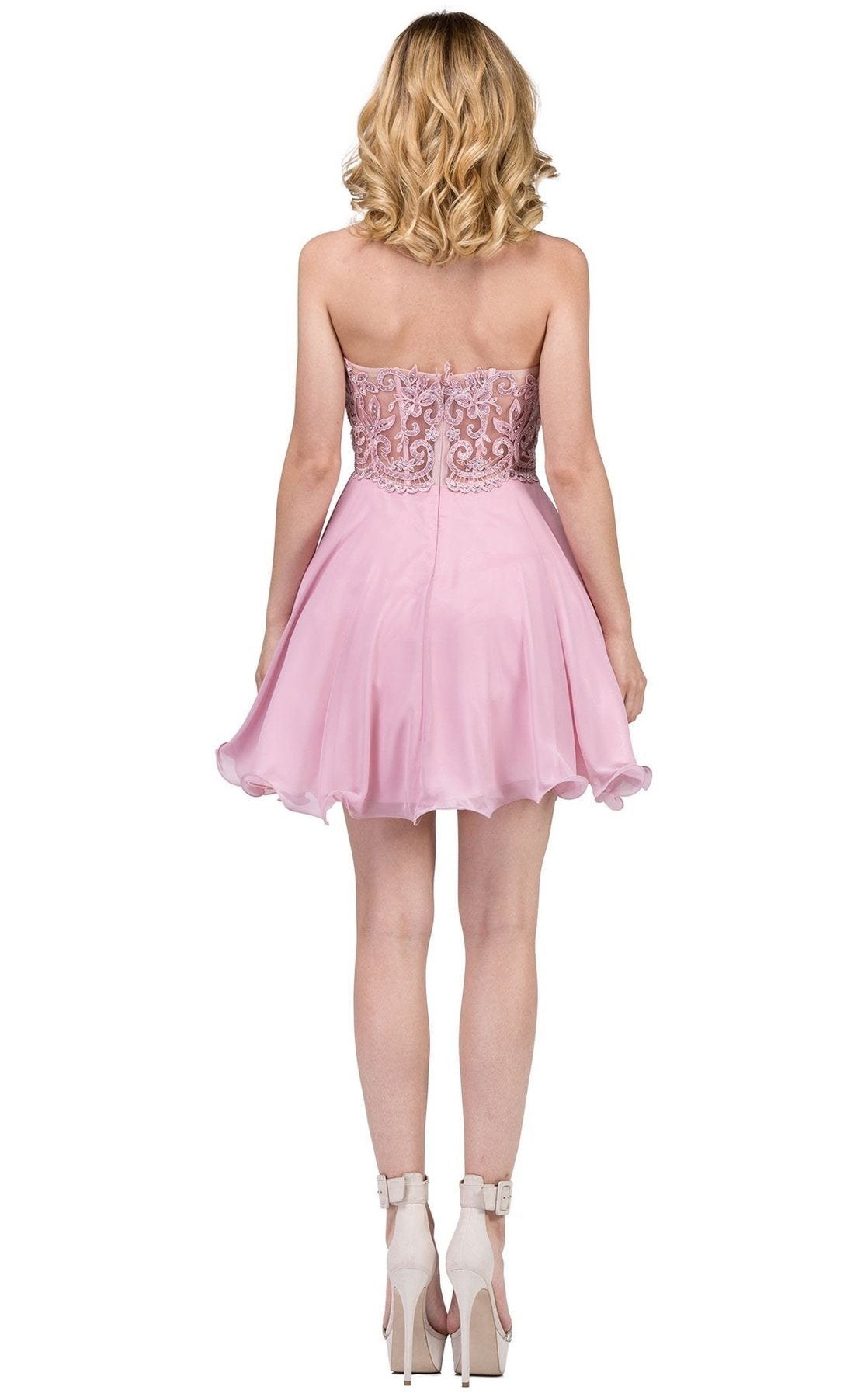 Dancing Queen - 3005SC Embellished Sweetheart A-Line Cocktail Dress