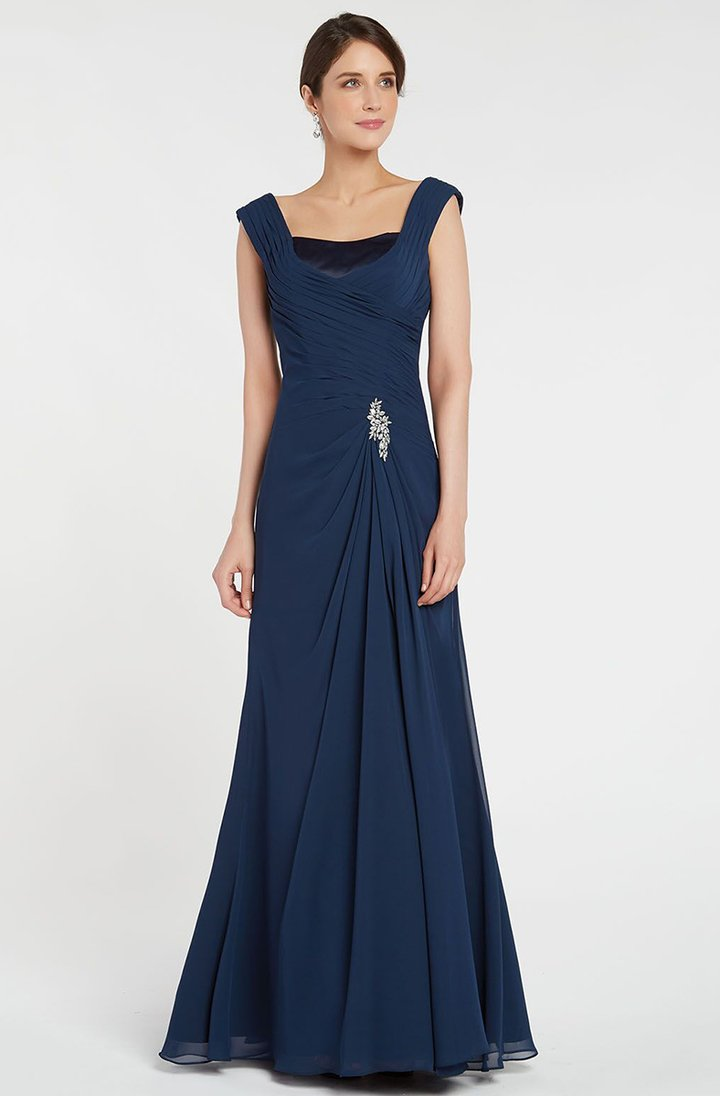 Alyce Paris - 29300SC Ruched Off Shoulder Chiffon Gown