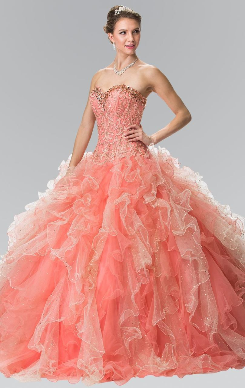 Elizabeth K - Beaded Embroidered Ballgown GL2210SC