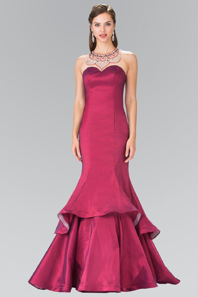 Elizabeth K - Jeweled Taffeta Evening Dress GL2290SC