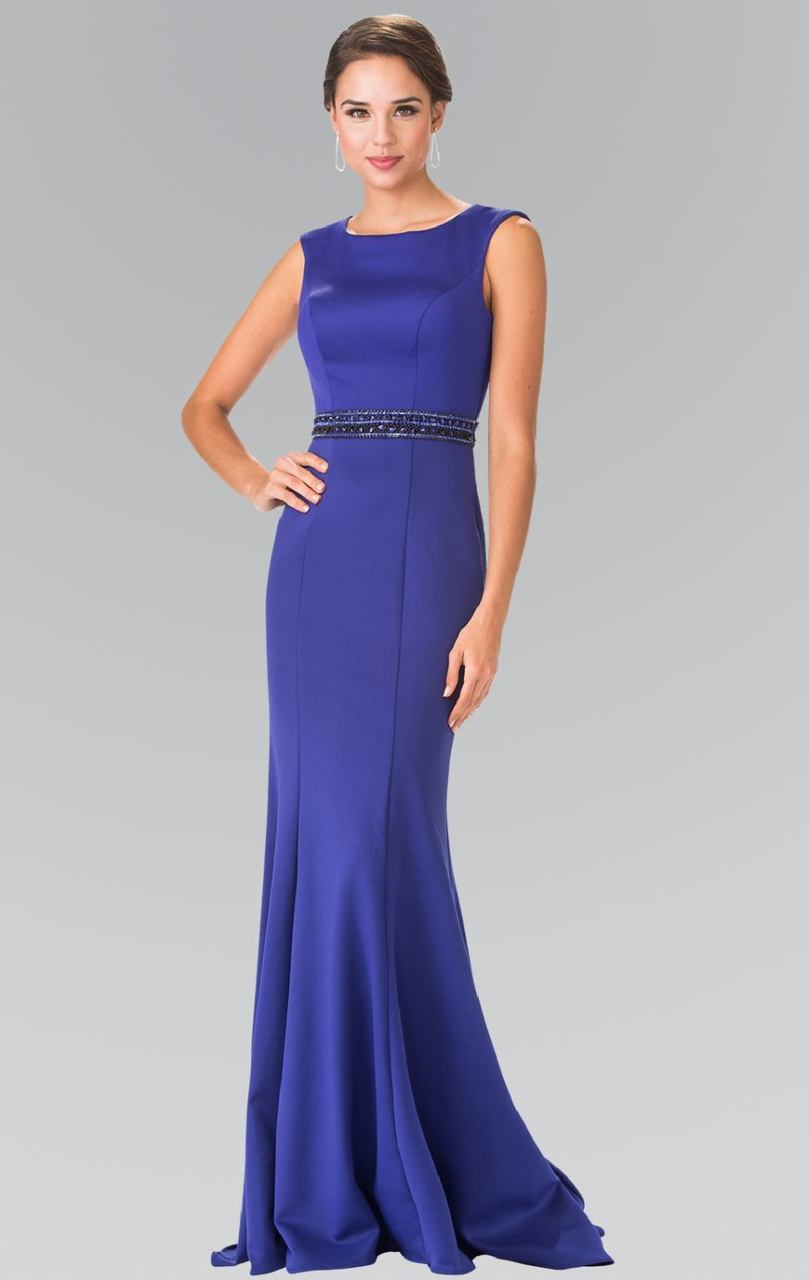 Elizabeth K - Beaded Waist Jersey Evening Dress GL2306SC
