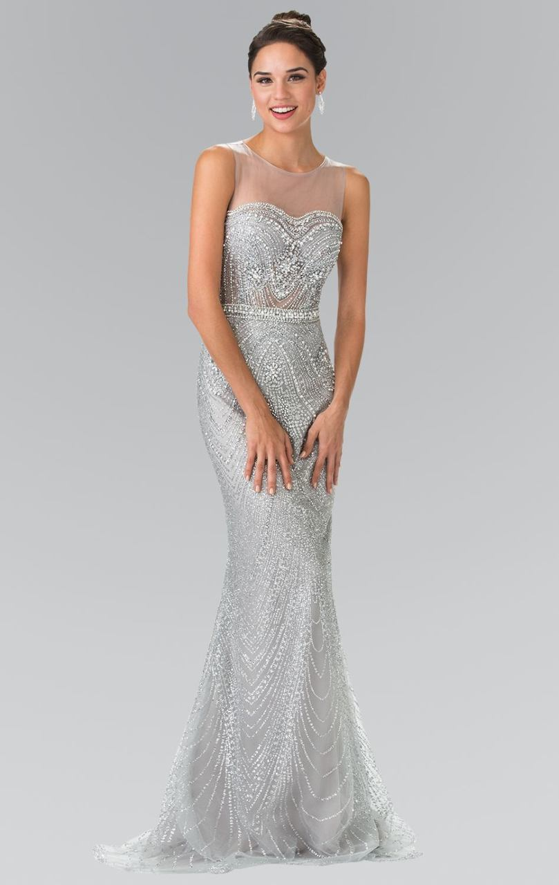 Elizabeth K - Beaded Illusion Sweetheart Evening Dress GL2337SC