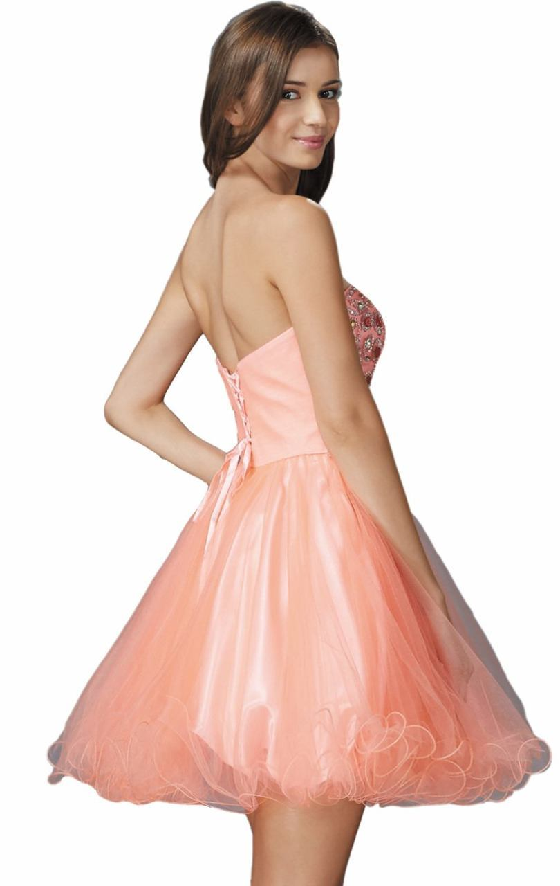 Elizabeth K - Sweetheart Neck Corset Back Tulle Flared Dress GS2132SC
