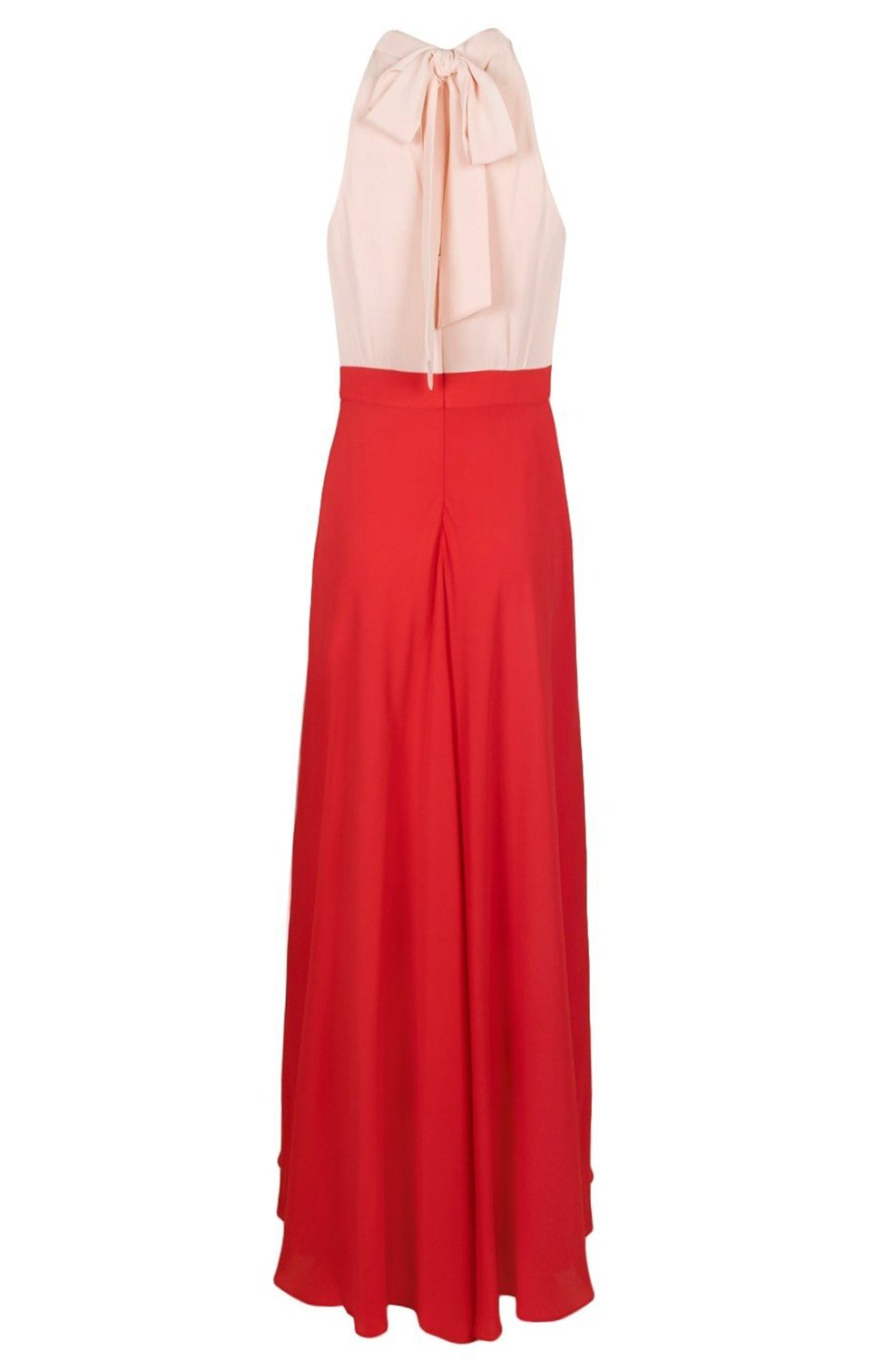 Laundry - HP03W47 High Halter Chiffon A-line Dress In Pink and Red
