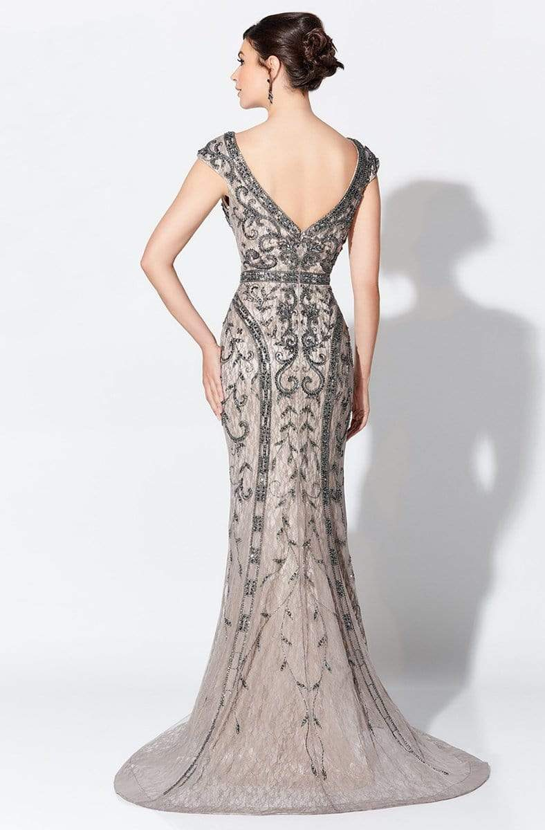 Ivonne D for Mon Cheri - 119D42 Bead Embellished V-Neck Gown Evening Dresses